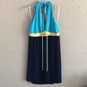 XL Lilly Pulitzer Nautical Halter Dress